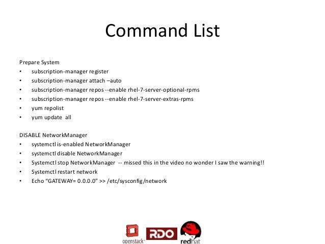 Installing OpenStack Juno using RDO on RHEL