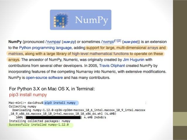 numpy mac