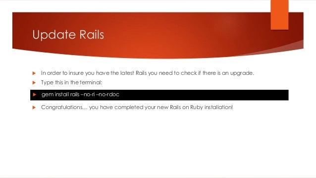 Installing Rails on Windows