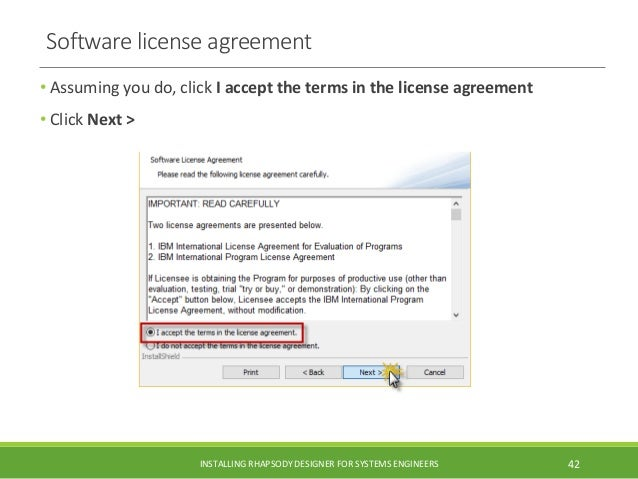 Installing rational rhapsody designer 82 or 821 for executable mbse software license agreement platinumwayz