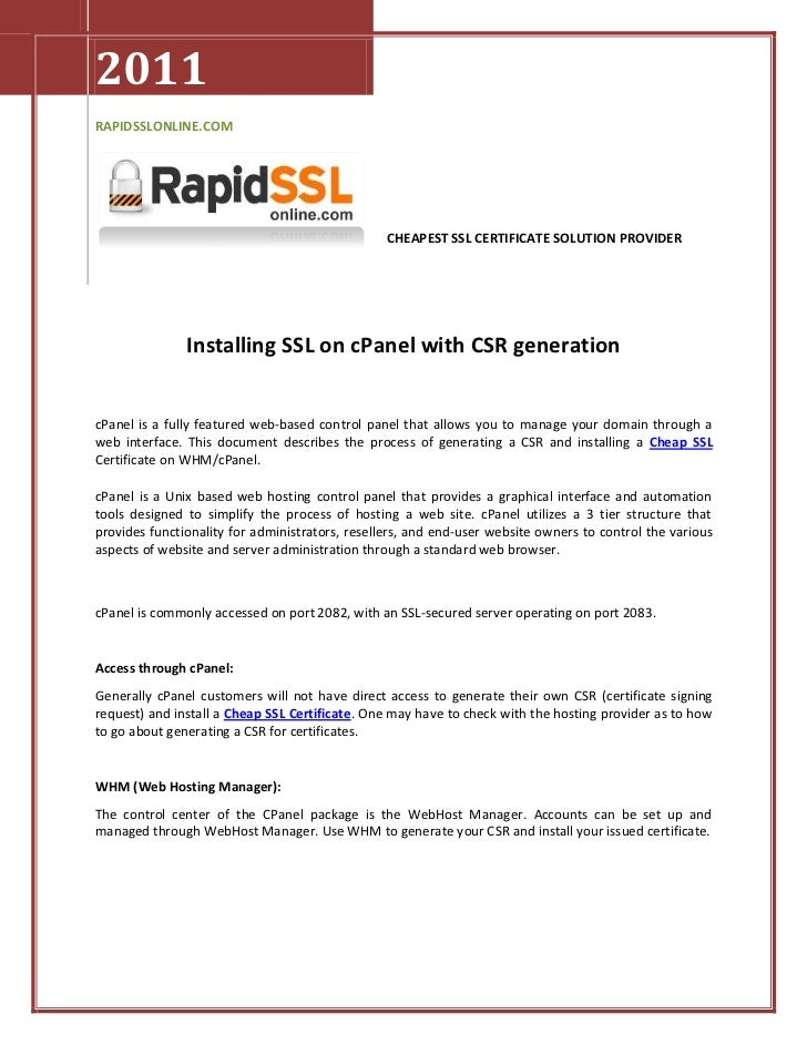 2011RAPIDSSLONLINE.COM                                                 CHEAPEST SSL CERTIFICATE SOLUTION PROVIDER         ...