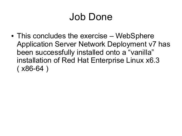 Installing web sphere application server v7 on red hat