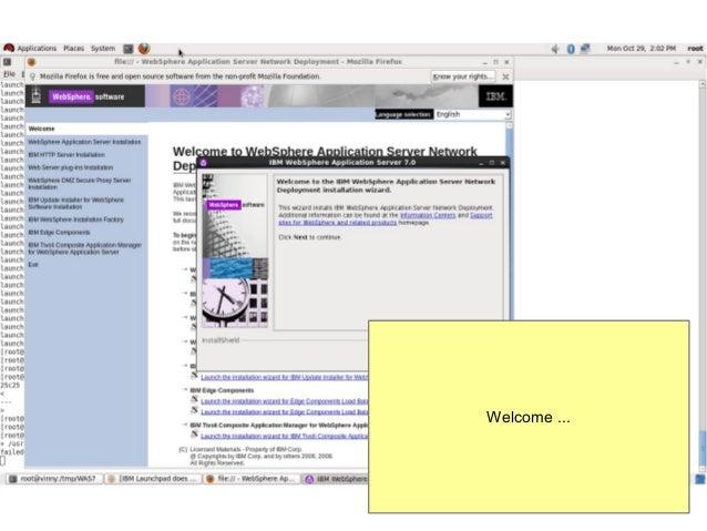 Installing web sphere application server v7 on red hat enterprise lin…