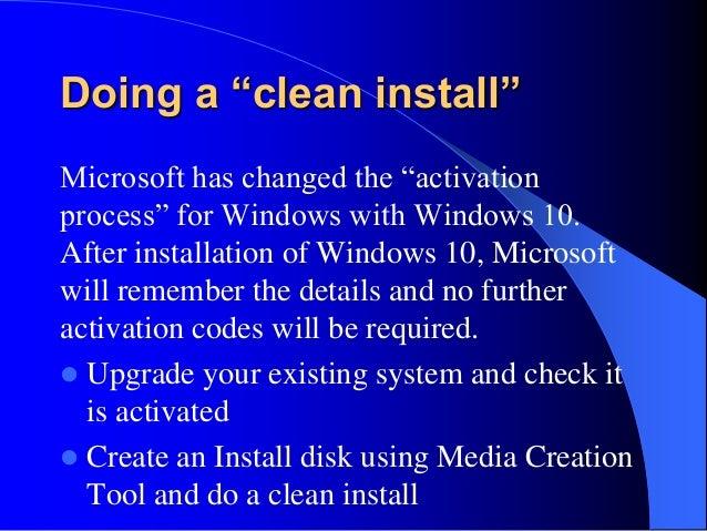 create windows 10 clean install disk