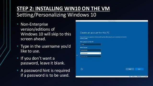 windows 10 skip password hint