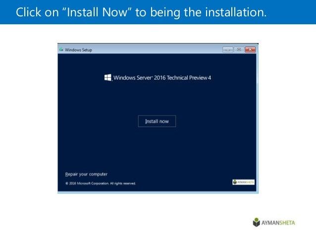 Windows Server 2016 Unattended installation TechNet - mandegar info