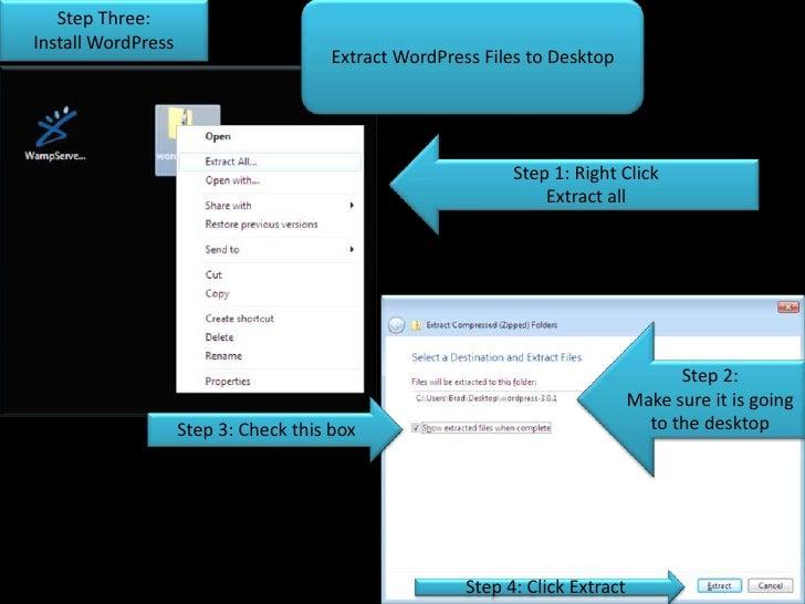 how to use wordpress on wamp server