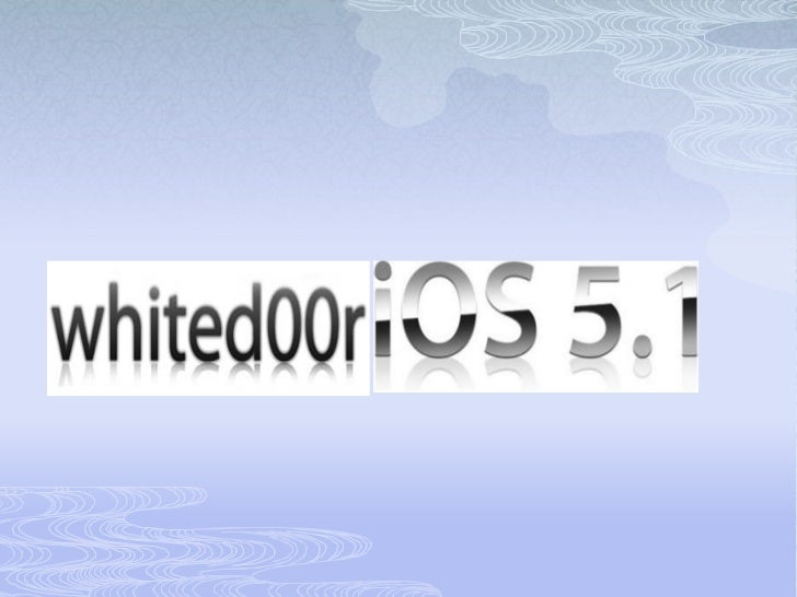 How to install whited00r ios on iphone 2g, 3g, and ipod touch.