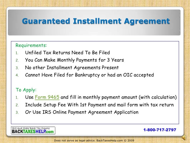 Irs Installment Agreement Overview Help