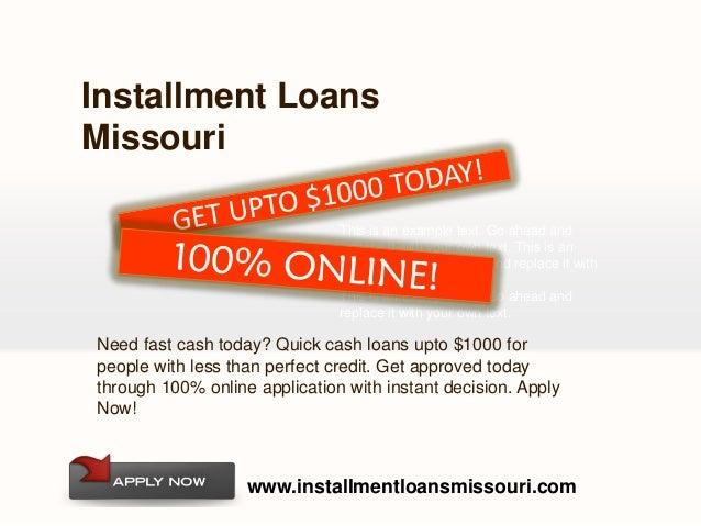 Best Installment loans Missouri For Bad Credit Holder - 웹