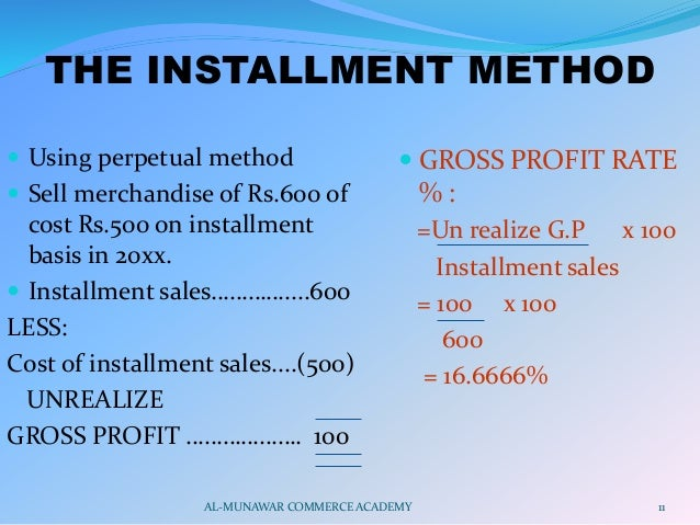 Installment Sales Presentation