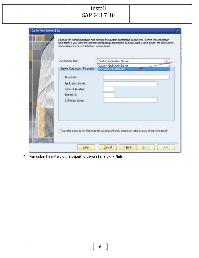 Installation sapgui for windows for v720