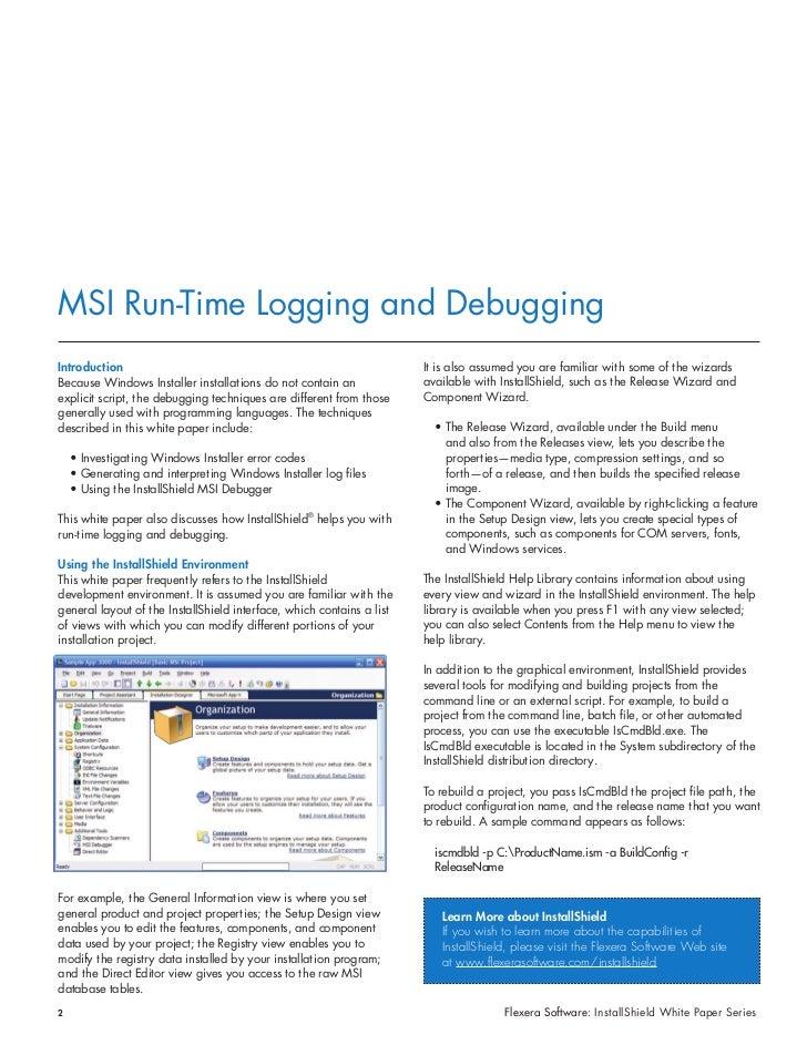 msi setup.exe logging