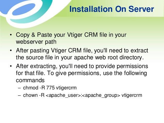 Install vtiger crm version 6