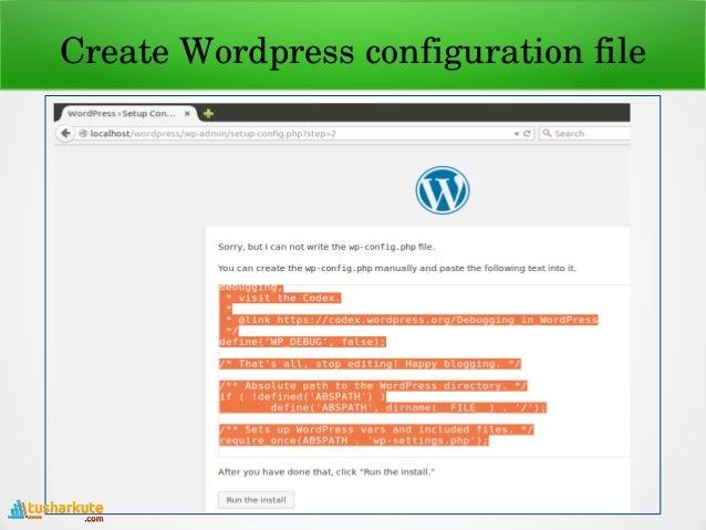Install Wordpress in Ubuntu Linux by Tushar B  Kute