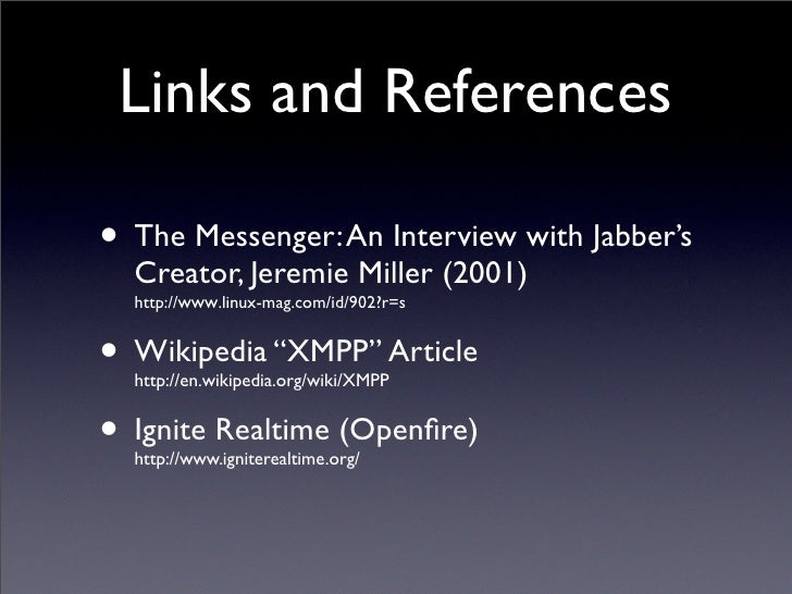 Creator Of Instant Message : Instant messaging with jabber xmpp