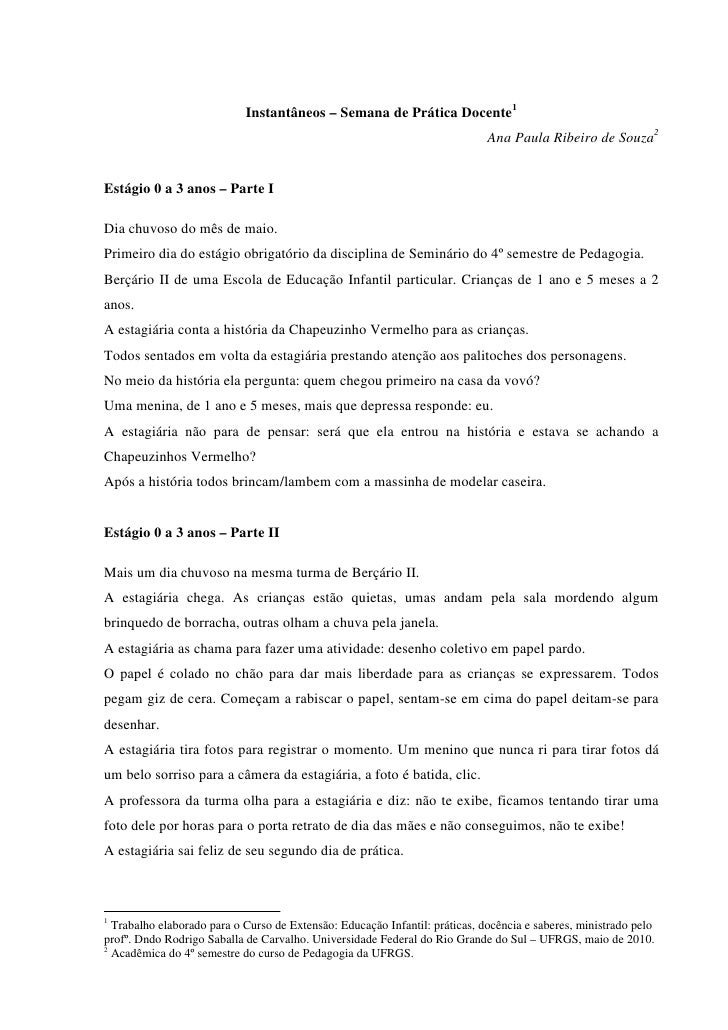 Instantâneos – Semana de Prática Docente1                                                                              Ana...