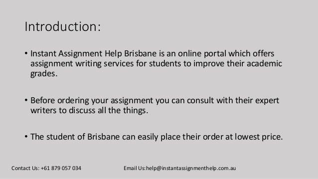 Assignment Help Brisbane