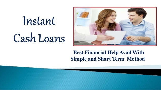 Instant Cash Loans - Avail Finances at Low Rates With ...