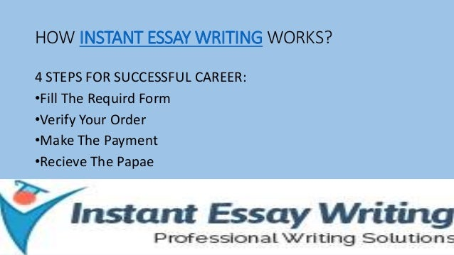 Instant essay writing service free college