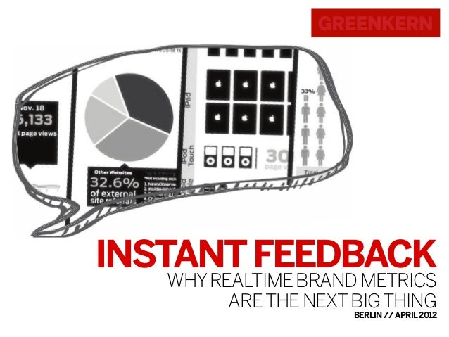 INSTANT FEEDBACK WHY REALTIME BRAND METRICS ARE THE NEXT BIG THING  BERLIN // APRIL 2012