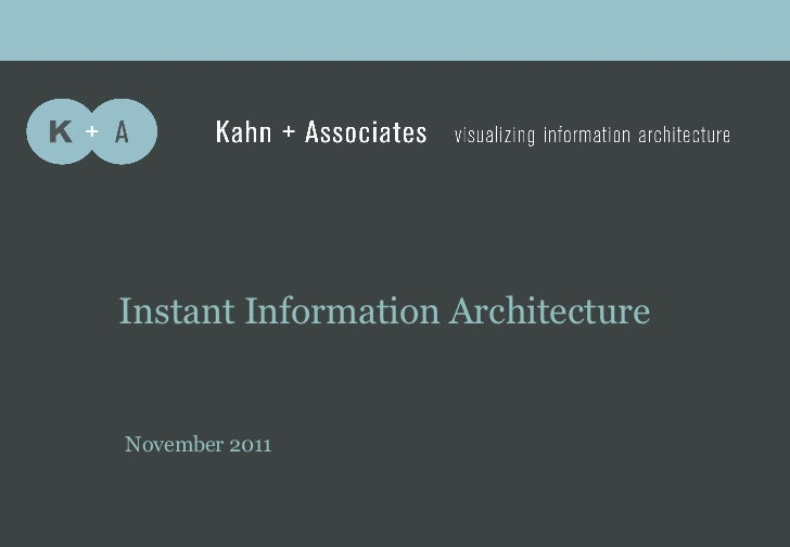 A         b           c    Instant Information Architecture    November 2011