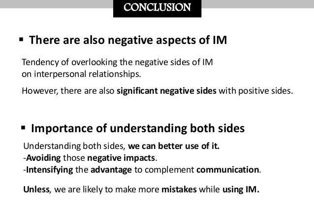 Instant messaging and interpersonal relationship(Juyoung