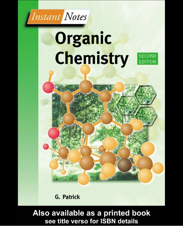 INSTANT NOTES IN ORGANIC CHEMISTRY [PDF]