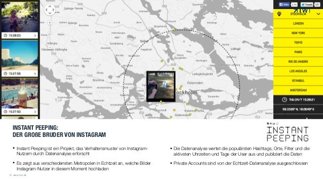 INSTANT PEEPING:  DER GROßE BRUDER VON INSTAGRAM !! Instant Peeping ist ein Projekt, das Verhaltensmuster von Instagram- ...