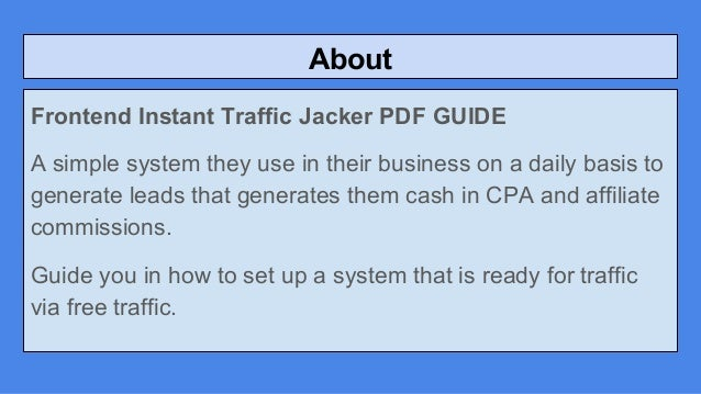 Instant Traffic Jacker Review Glynn K Buy It Or Not