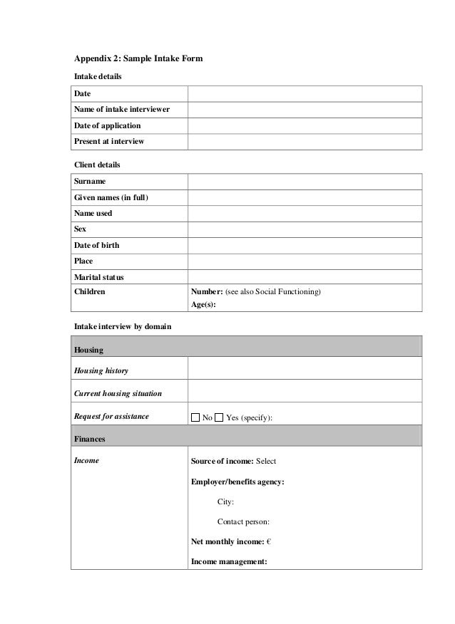 Customer intake form template gallery template design ideas for Workplace violence and harassment risk assessment template