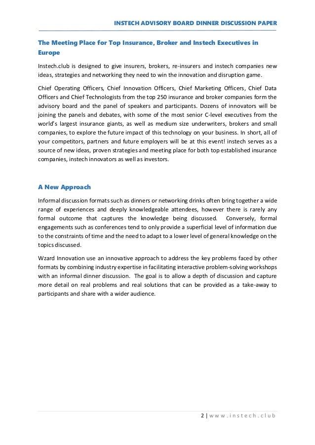 Innovation Cafe - Discussion Paper Slide 2