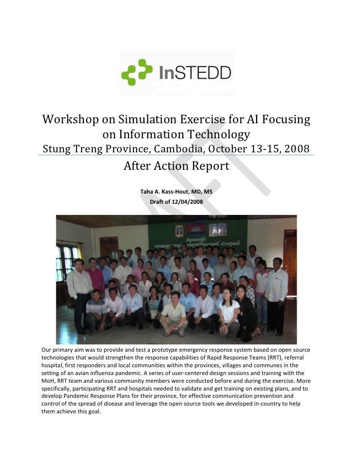 WorkshoponSimulationExerciseforAIFocusing          onInformationTechnology StungTrengProvince,Cambodia,Octob...
