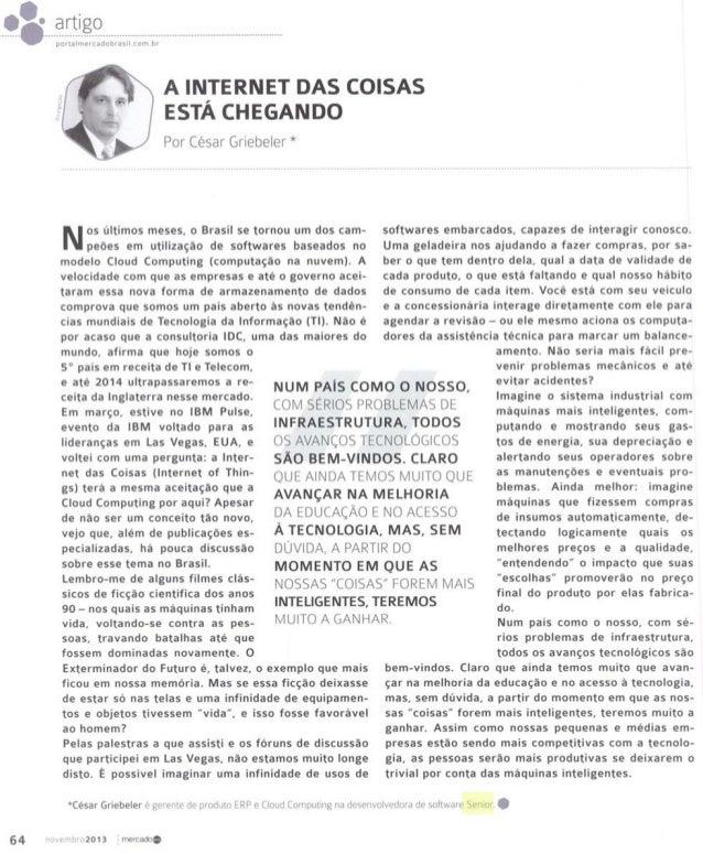 Portal Mercado Brasil | A Internet das Coisas está chegando