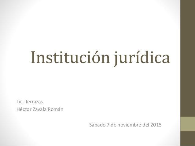 Institución Jurídica