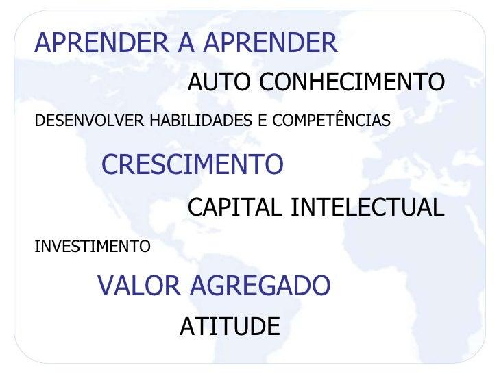 APRENDER A APRENDER AUTO CONHECIMENTO DESENVOLVER HABILIDADES E COMPETÊNCIAS CRESCIMENTO CAPITAL INTELECTUAL INVESTIMENTO ...