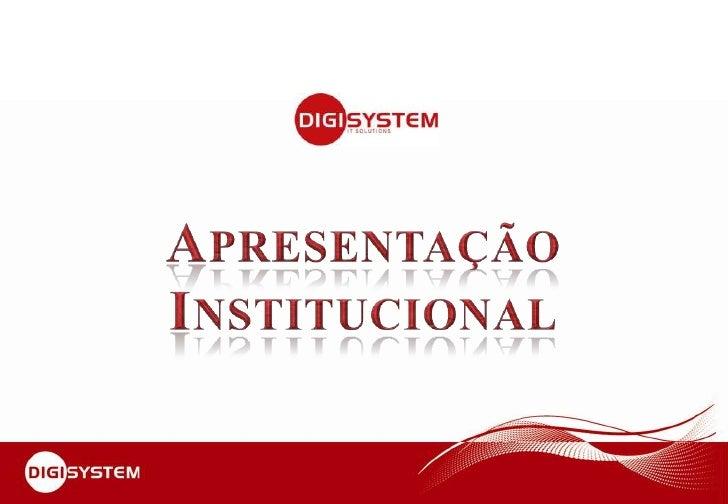 Apresentação<br />Institucional<br />