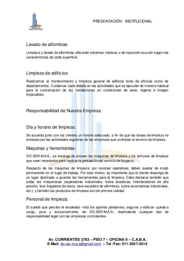 Institucional de limpieza for Presupuesto de limpieza de oficinas