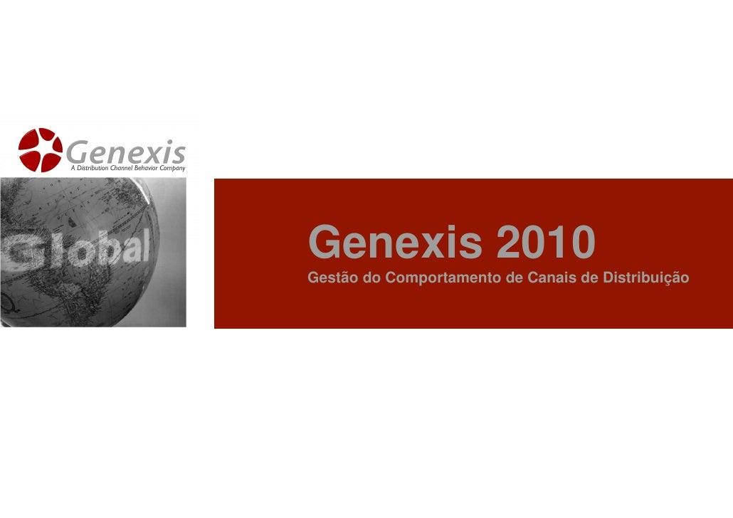 Genexis 2010 Gestão do Comportamento de Canais de Distribuição
