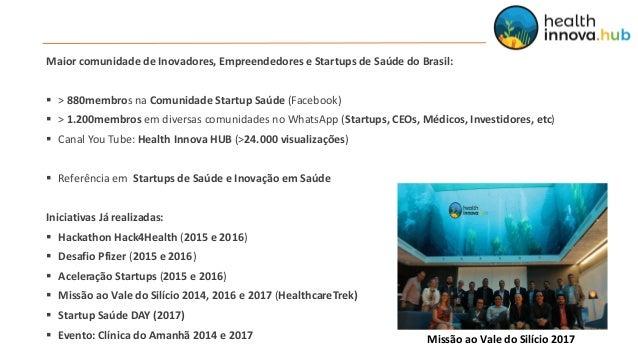 Health Innova HUB, HUB de Inovação em Saúde, completa 1 ano com muito a comemorar! Slide 2