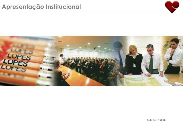 Apresentação Institucional                             Setembro 2010