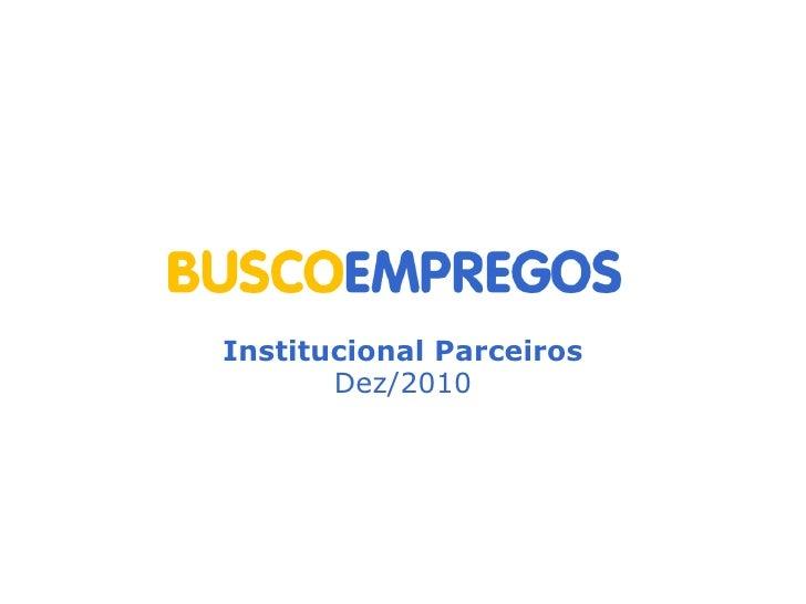 Institucional Parceiros Dez/2010
