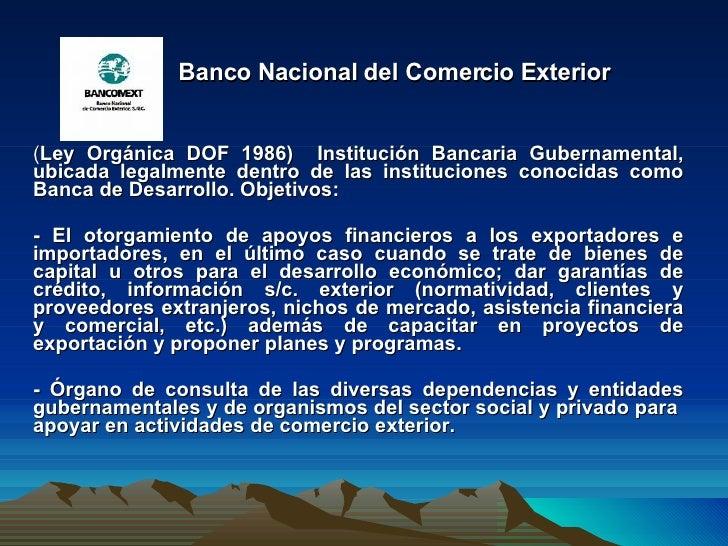 Instituciones de com ext mex equipo10 tema3 for Pagina del banco exterior