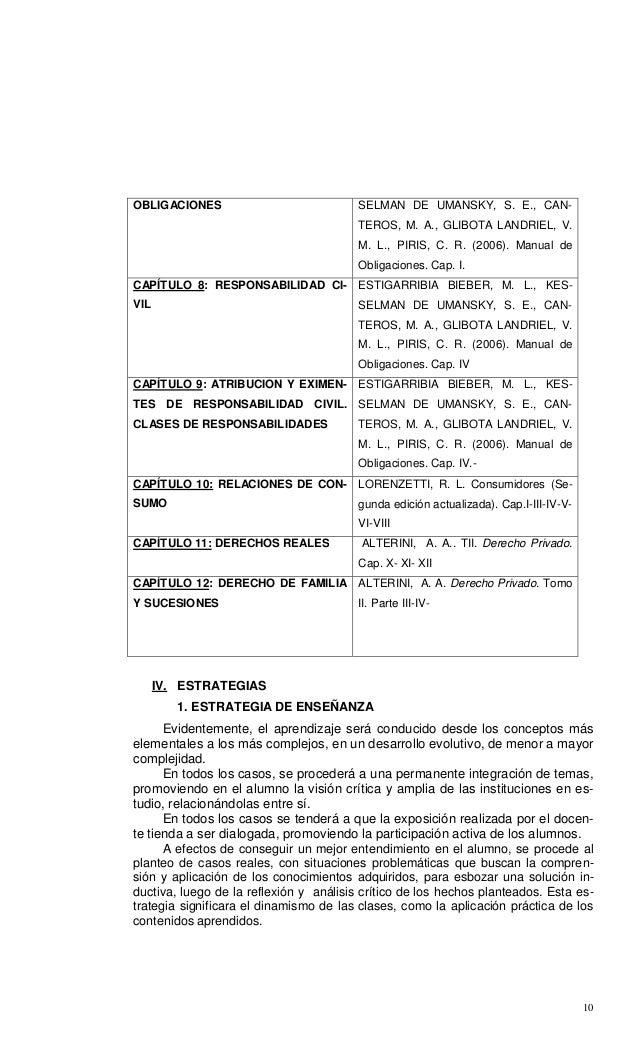 10 OBLIGACIONES SELMAN DE UMANSKY, S. E., CAN- TEROS, M. A., GLIBOTA LANDRIEL, V. M. L., PIRIS, C. R. (2006). Manual de Ob...