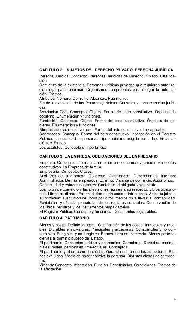 4 CAPÍTULO 2: SUJETOS DEL DERECHO PRIVADO. PERSONA JURÍDICA Persona Jurídica: Concepto. Personas Jurídicas de Derecho Priv...