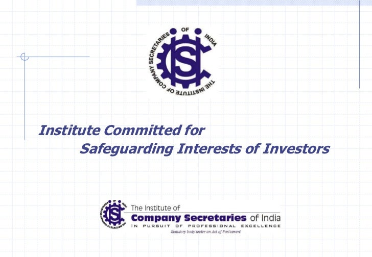 Institute Committed for      Safeguarding Interests of Investors