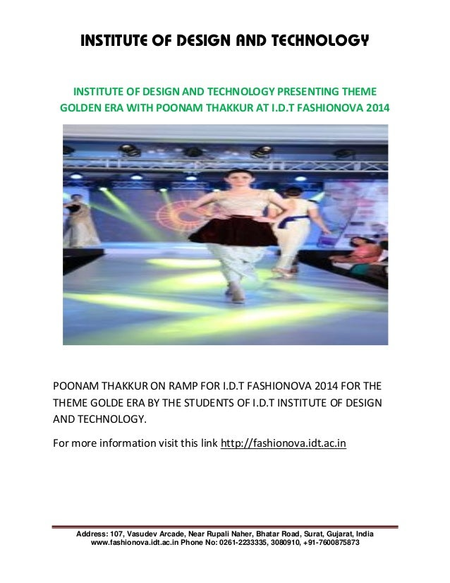 institute of design and technology presenting theme golden