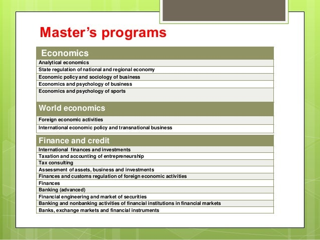institute of masters programs