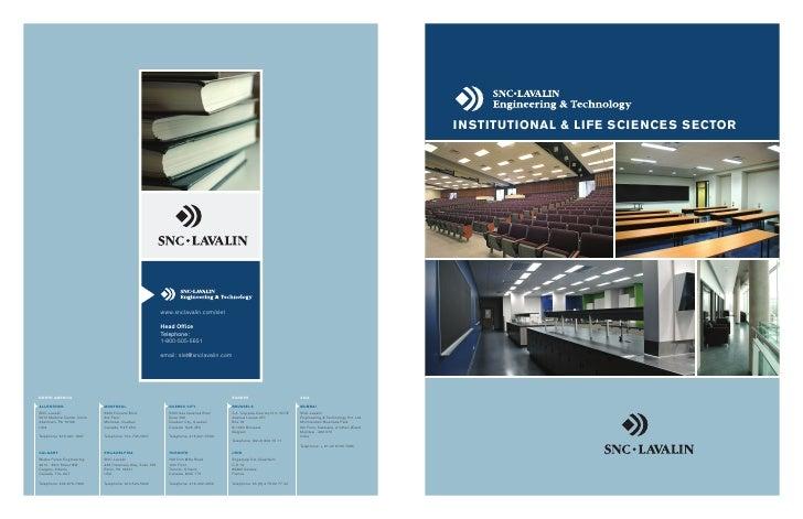 InstItutIonal & lIfe scIences sector                                                                www.snclavalin.com/sle...