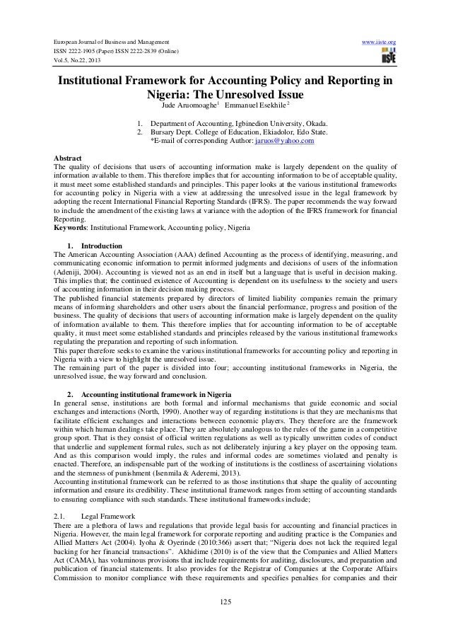 European Journal of Business and Management  www.iiste.org  ISSN 2222-1905 (Paper) ISSN 2222-2839 (Online) Vol.5, No.22, 2...